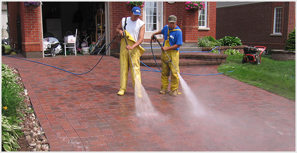 Paving Stone Cleaning and Sealing