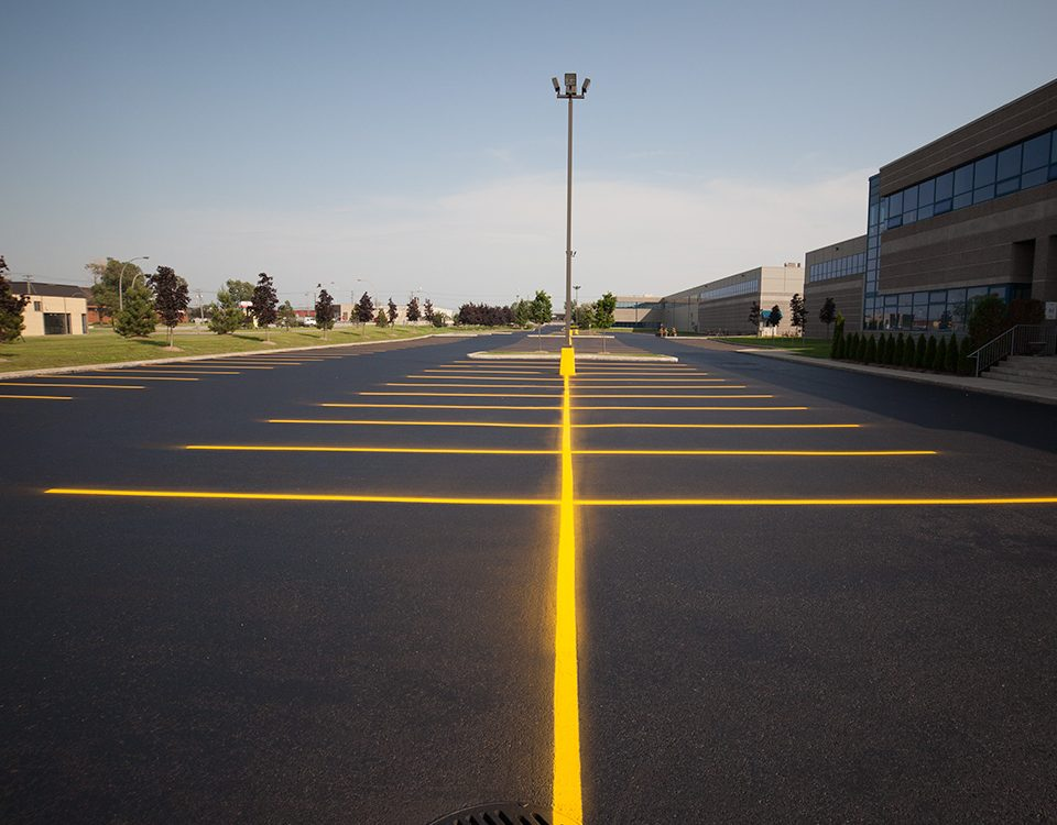 parking lot Asphalt Pavement Markings in Laval